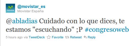 @movistar_es twitea en directo tras el comentario de @abladias